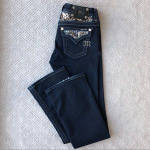 Miss Me Easy Boot Cut Dark Wash Jeans Size 25